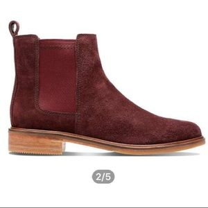 Clarks Shoes - Clark's Clarkdale Womems Burgundy Ankle Boots